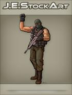 JEStockArt - Modern - Sleeveless Militia Personnel Raising Fist - CNB