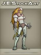 JEStockArt - SciFi - Cyberwoman With Retractable Sword - CNB