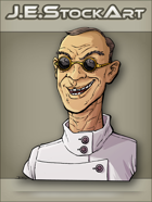 JEStockArt -  Modern - Scientist With Cleft Lip And Dark Glasses - CNB