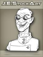JEStockArt -  Modern - Scientist With Cleft Lip And Dark Glasses - LNB