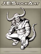 JEStockArt - Supernatural - Horned Demon In Modern Clothes - INB