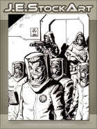 JEStockArt - Modern - Scientists In Hazmat Suits With Guards - IWB