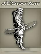 JEStockArt - History - Samurai In Sengoku Armor With Bow - INB