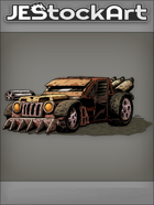 JEStockArt - PostA - Rugged Battle Car With Rotating Gun - CNB