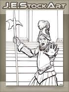 JEStockArt - Fantasy - French Guard Halting With Hand Raised - LWB
