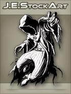 JEStockArt - Supernatural - Hooded Hunter With Ragged Cape - INB