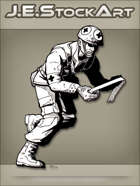 JEStockArt - History - Bloody Medic Running With Bandages - INB