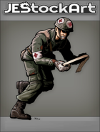 JEStockArt - History - Bloody Medic Running With Bandages - CNB