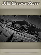 JEStockArt - Fantasy - Spider Monsters With Pincers In Cavern - GWB