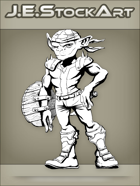 JEStockArt - Fantasy - Armed Goblin With Dagger And Shield - INB