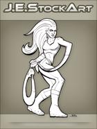 JEStockArt - Supers - Elastic Heroine With Noose Arm - LNB