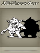 JEStockArt - Fantasy - Fat Goblin With Wicked Grin And Shadow - LNB