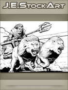 JEStockArt - SciFi - Hover Chariot Pulled By Lions - IWB