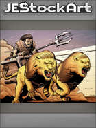 JEStockArt - SciFi - Hover Chariot Pulled By Lions - CWB