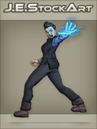 JEStockArt - Supers - Asian Woman With Electric Powers - CNB