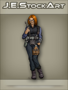 JEStockArt - SciFi - Female Engineer With Red Hair- CNB