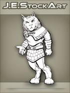 JEStockArt - SciFi - Aslan Feline Humanoid In Kilt - LNB