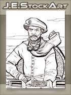 JEStockArt - Steampunk - Bearded Captain Aboard Clockwork Vessel - LWB