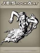 JEStockArt - Supernatural - Flying Pyschic Revenant With Vest And Smoke Trail - INB