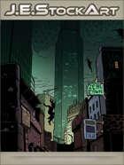 JEStockArt - Supernatural - Downtown Skyline With Supernatural Beings - CWB
