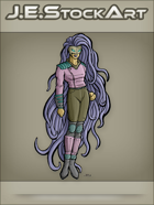 JEStockArt - Supers - Tendril Heroine with Hair Power - CNB