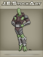 JEStockArt - Supers - Floating Alien in Heroic Pose - CNB