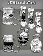 JEStockArt - Items - Assorted SciFi Containers with Labels 2019 - IWB