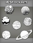 JEStockArt - SciFi - Various Planets 001B - Bundle