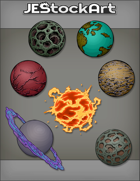 JEStockArt - SciFi - Various Planets 002 - Bundle