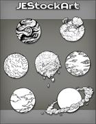 JEStockArt - SciFi - Various Planets 003B - Bundle