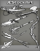 JEStockArt - Items - Assorted Fantasy Weapons 2020A - Bundle