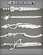JEStockArt - Items - Assorted SciFi Swords 2020A - Bundle