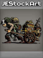 JEStockArt - Fantasy - Sweaty Hired Minion Hauling Adventurering Gear - CNB