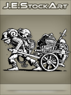 JEStockArt - Fantasy - Sweaty Hired Minion Hauling Adventurering Gear - INB