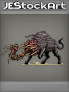 JEStockArt - Fantasy - Bull Infected With Alien Tentacles - CNB