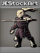 JEStockArt - Fantasy - Mutant Rabbit With Sword In Samurai Armor - CNB