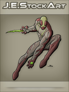 JEStockArt - Supers - Insect Hero Leaping with Poison Claws - CNB