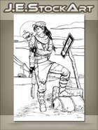 JEStockArt - PostA - Ghoul Girl By Desert Highway - LWB