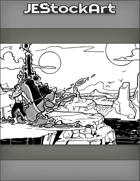 JEStockArt - Fantasy - Planar Adventurer Travels Through Rift Into New World - IWB
