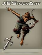 JEStockArt - Fantasy - Mouse Ninja With Sword Throwing Sai - CNB