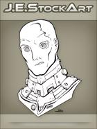 JEStockArt - SciFi - Albino Alien Overlord With Metal Neck - INB