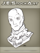 JEStockArt - SciFi - Albino Alien Overlord With Metal Neck - INB