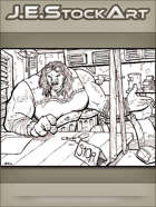 JEStockArt - PostA - Female Mutant Trader In Shop - IWB