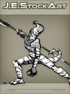 JEStockArt - Fantasy - Half Dragon Lady In Oriental Armor - INB