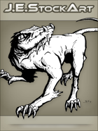JEStockArt - Fantasy - Rat Dog With Claws And Frilled Throat - INB