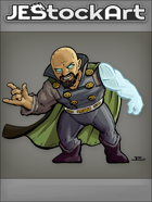 JEStockArt - Supers - Short Mage In Cape With Mystic Arm - CNB