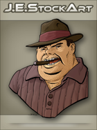JEStockArt - Modern - Italian Gangster With Fedora And Cigar - CNB