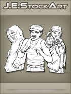 JEStockArt - Modern - Various Gang Member Busts - INB