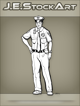 JEStockArt - Modern - African American Police Officer With Hand On Hip - INB