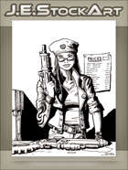 JEStockArt - Modern - Arms Dealer With Guns And Price List - INB